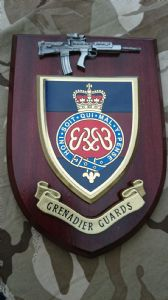 Grenadier Guards Regiment Military Wall Plaque + Pewter SA80